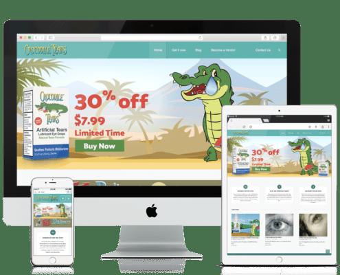 WooCommerce Website Design Crocodile Tears
