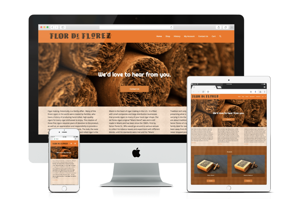 WooCommerce Website Design Flor De Florez Cigars