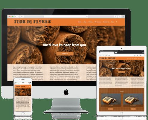 WooCommerce Website Design Flor De Florez Cigars