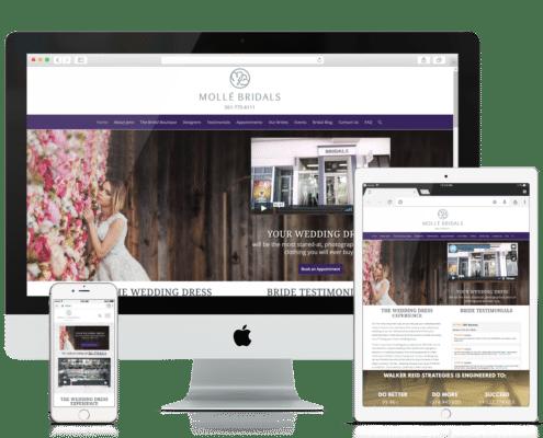 Wordpress Website Design Molle Bridals