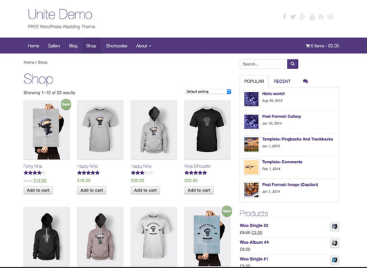 WooCommerce Example Page