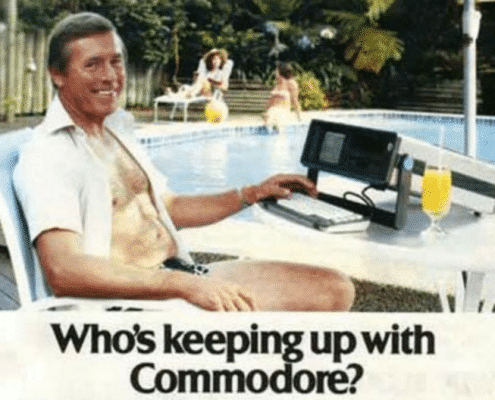 Graphic Design - 1980's Commador 64 Ad