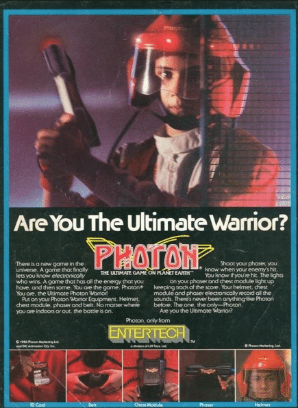 Graphic Design - 1980's Laser Tag Ad