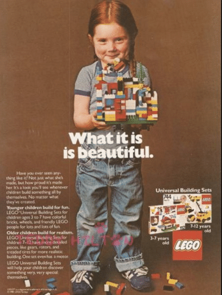 Graphic Design - 1980's Legos Ad