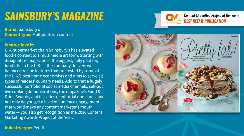 Sainsbury Magazine Case Study