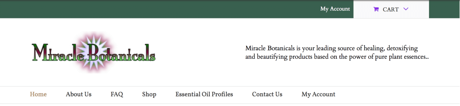 Miracle Botanicals before design