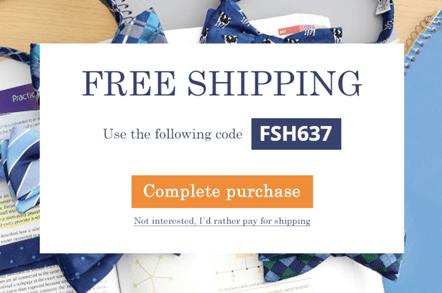 WooCommerce Free Shipping Example