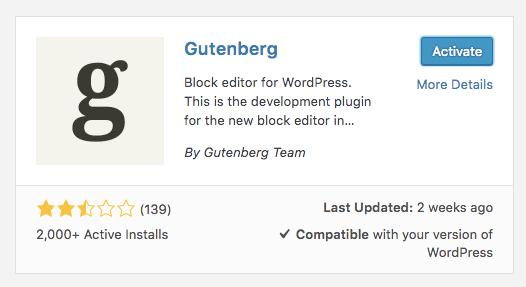 Wordpress Gutenberg Download