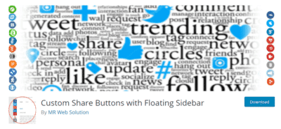 Custom Share Buttons Social Media Plugin