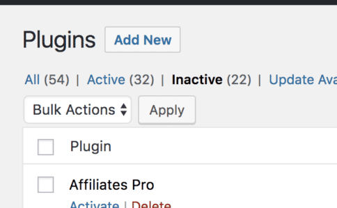 Delete the plugins and themes you don't use - WordPress Security