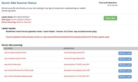 Download a security scanner plugin - WordPress Security