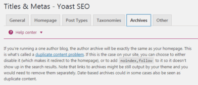 Yoast - Archives