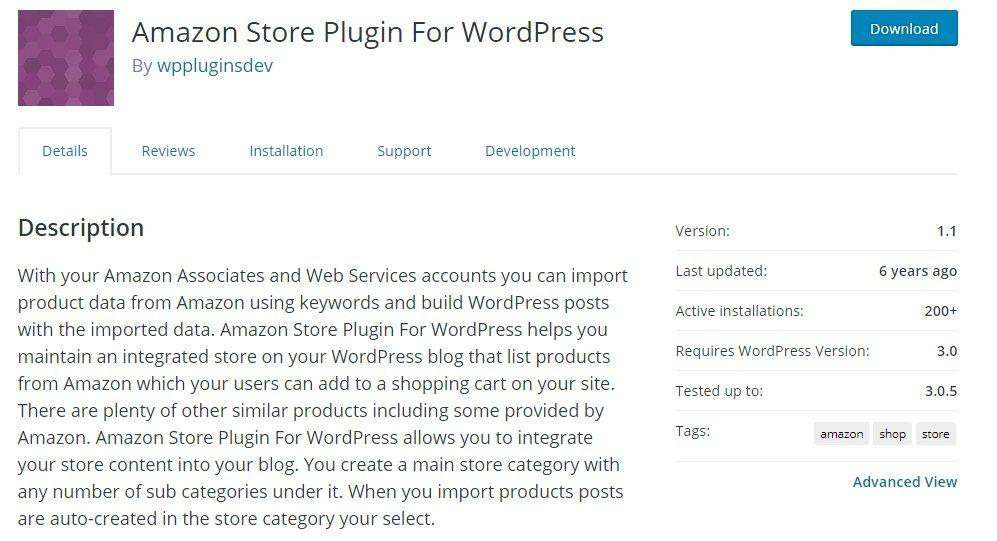 Amazon Store Plugin For WordPress