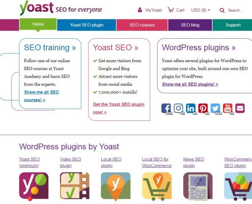 WordPress plugins by Yoast