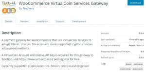 WooCommerce VirtualCoin Services Gateway