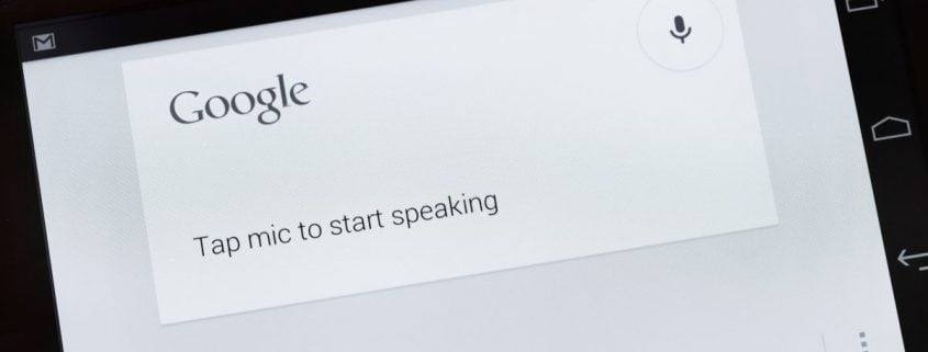 Google Voice Search Application on Galaxy Nexus Smartphone