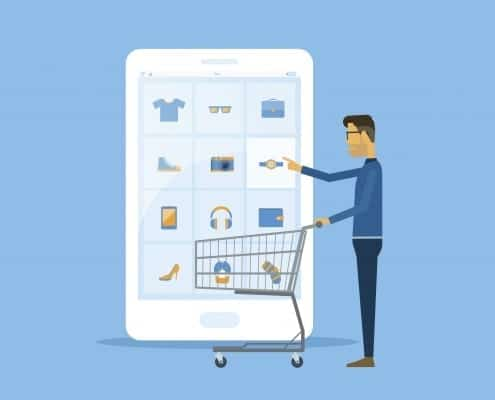 business online shopping and ecommerce concept