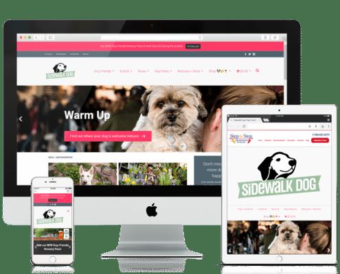WooCommerce and Wordpress Website - Sidewalk Dog