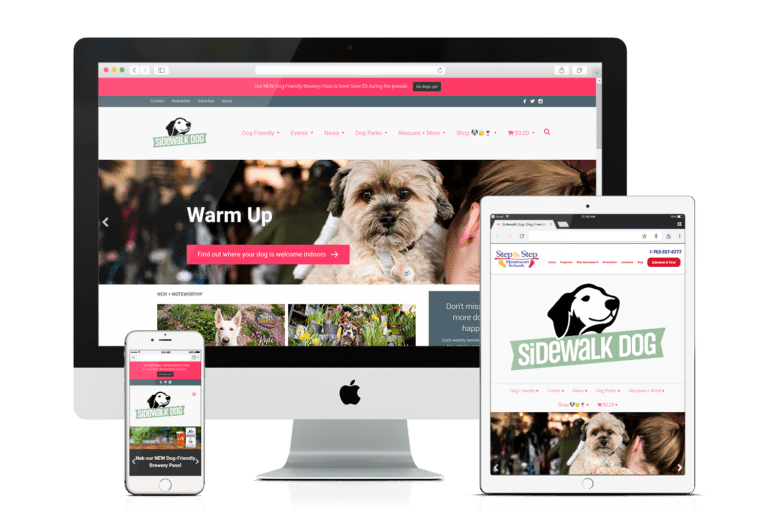 WooCommerce and WordPress Website - Sidewalk Dog