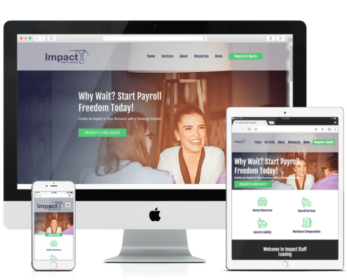Wordpress and WooCommerce Website Design - Impact Staff Leasing