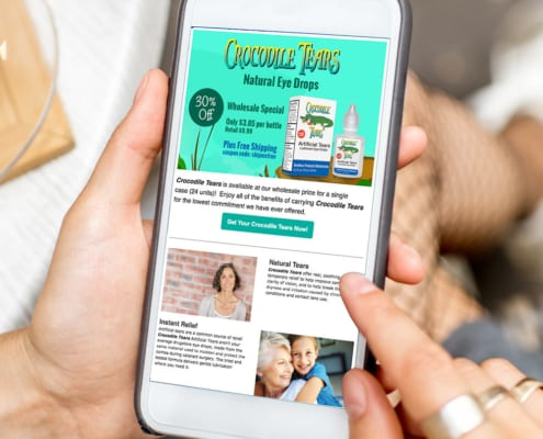 Email marketing example online retail health