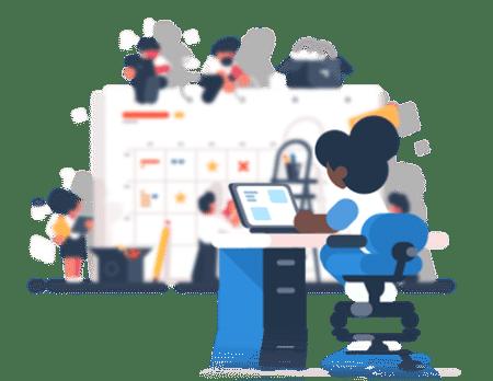 Social Media Management Plan - Woman Working