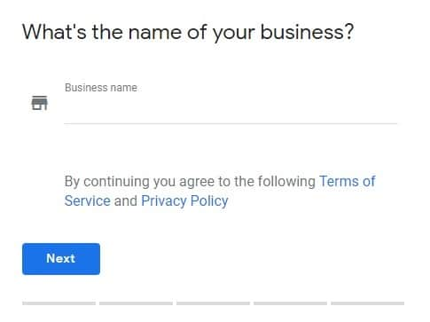 Claiming Business - Name of business