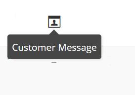 Customer message