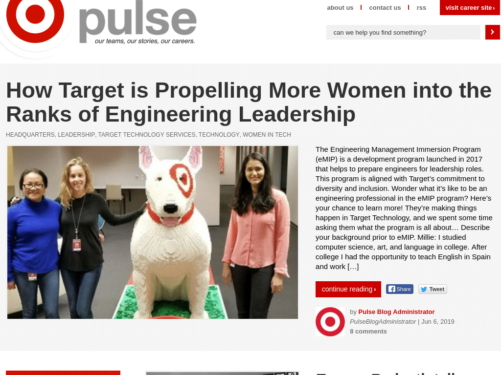 Best WordPress Design - Pulse by Target