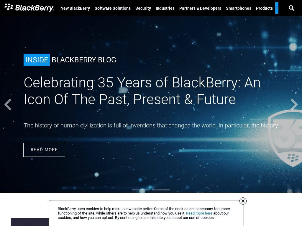 Best WordPress Design - Inside BlackBerry
