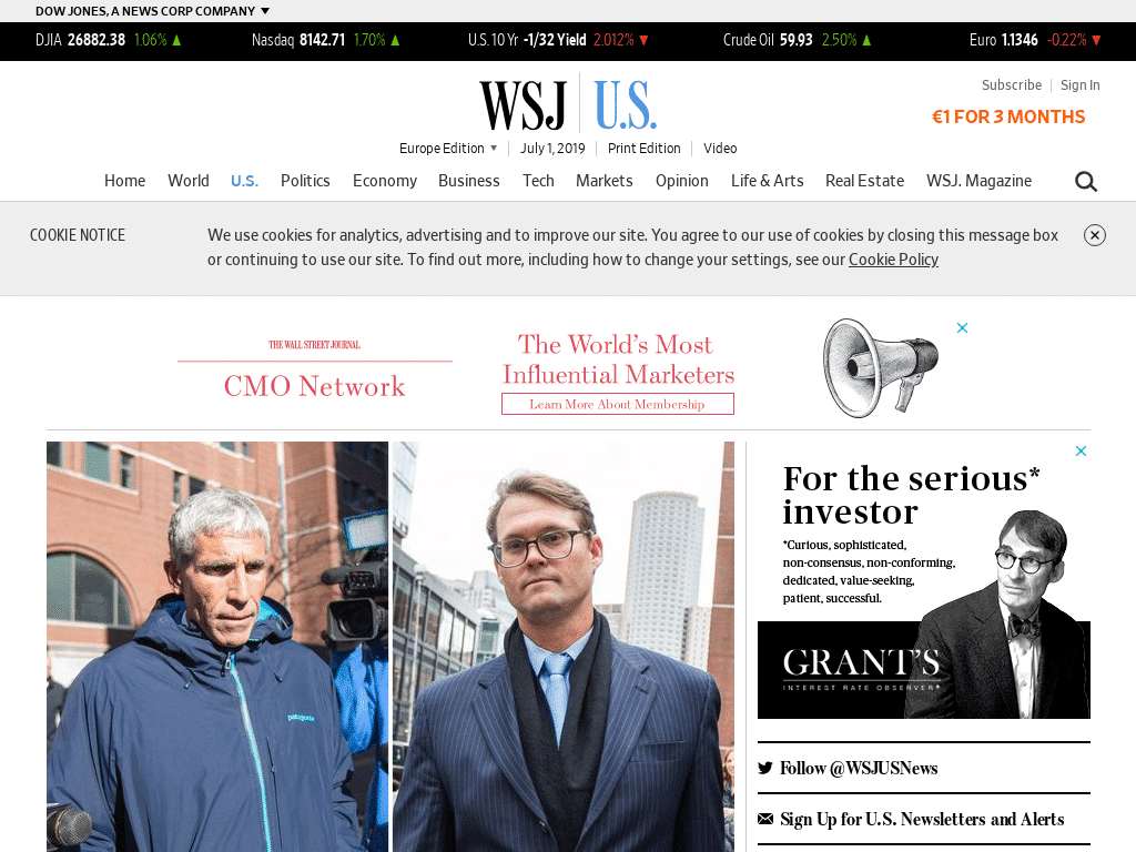 Best WordPress Design - The Wall Street Journal Law Blog
