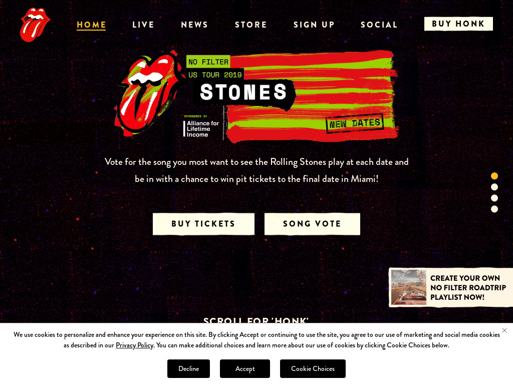 Best WordPress Design - The Rolling Stones