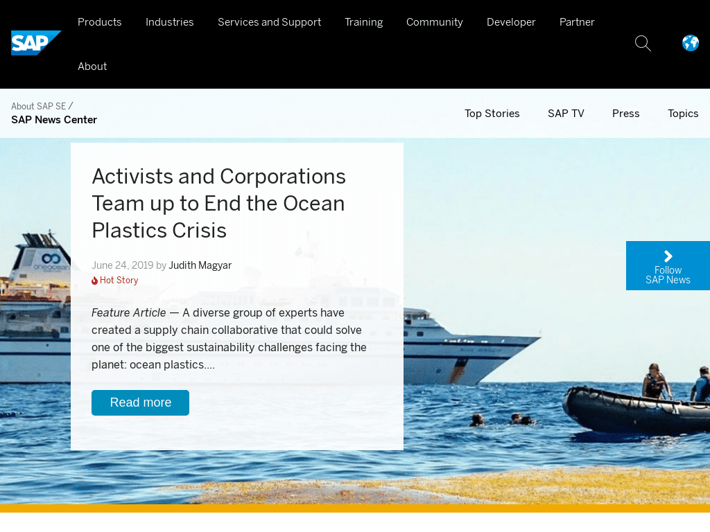 Best WordPress Design - SAP News Center