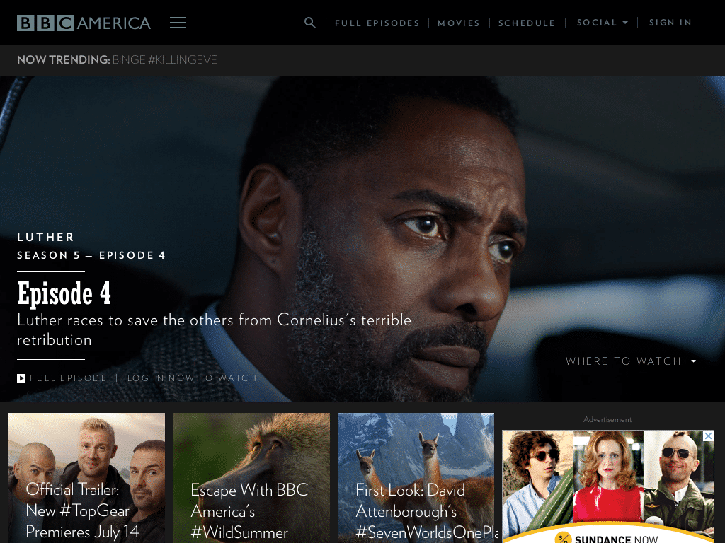 Best WordPress Design - BBC America