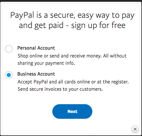 Business PayPal Account