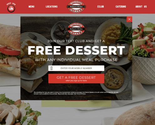 Boston Market Wordpress Design