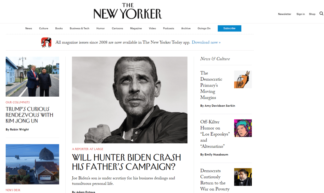 Best WordPress Design - The New Yorker