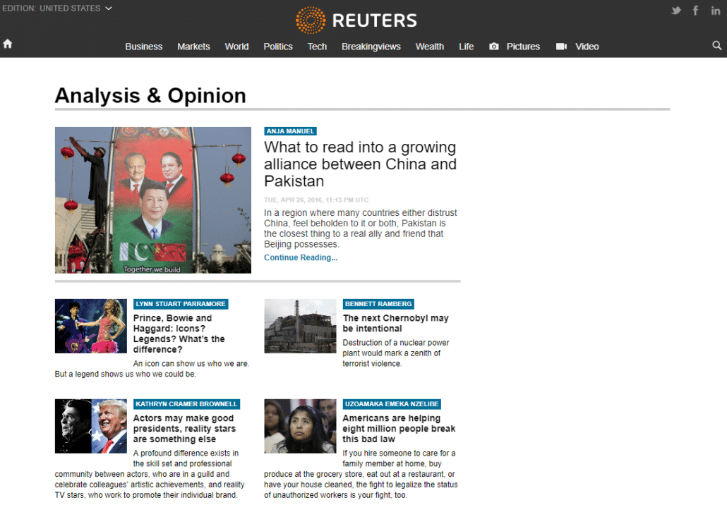 Best WordPress Design - Reuters Blog