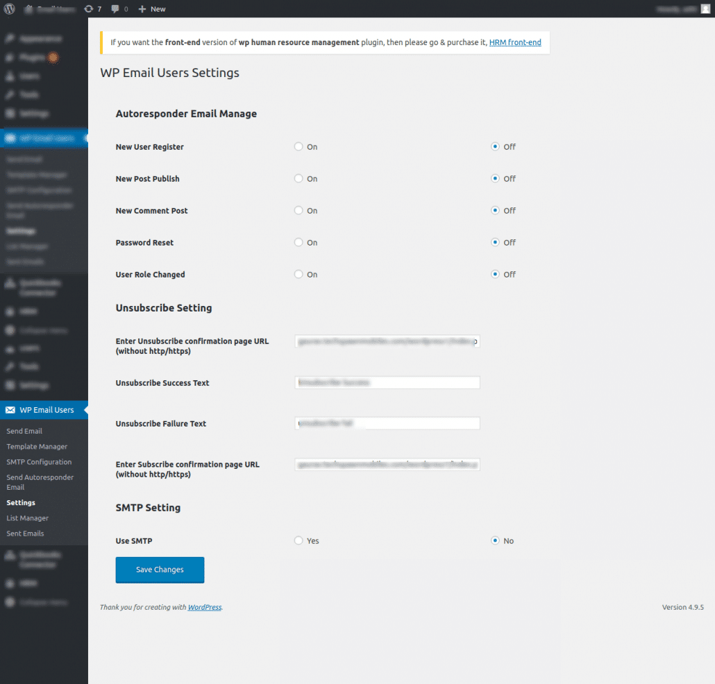 email in wordpress