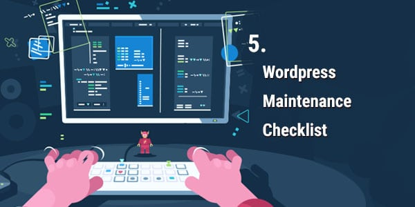 Wordpress Maintenance Checklist Banner