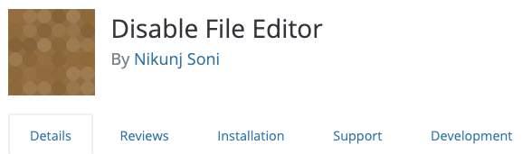 Plugin to Disable Editor