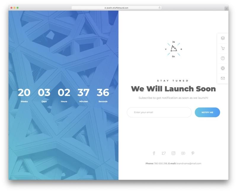 Jevelin WordPress Coming Soon Page