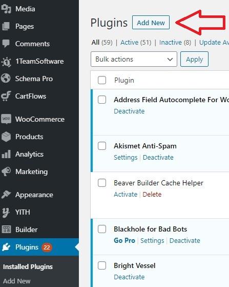 Wordpress Plugin Add New