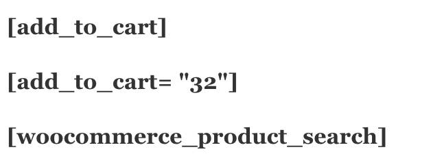 Add to cart WooCommerce Short codes