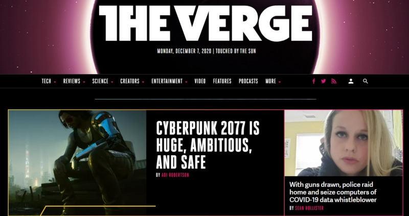 theverge Best Websign Design