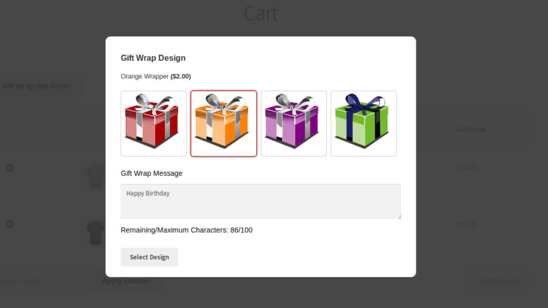 WooCommerce Gift Wrapper Extension