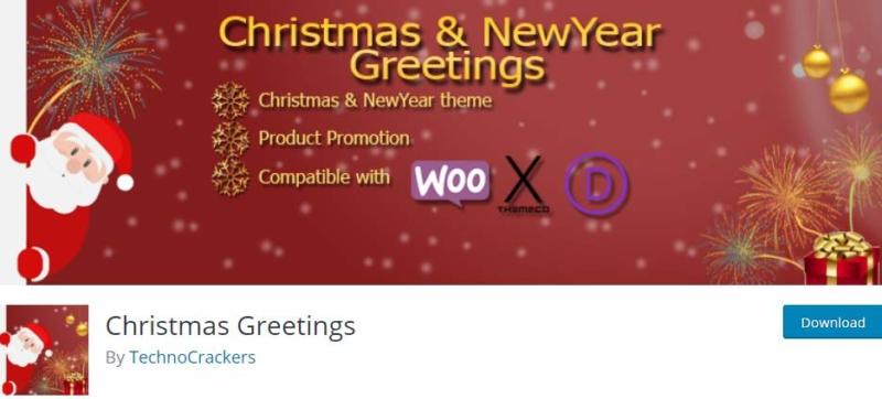 Christmas Greetings WordPress Plugin
