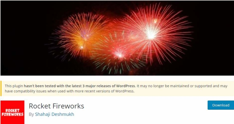 Rocket Fireworks WordPress Plugin