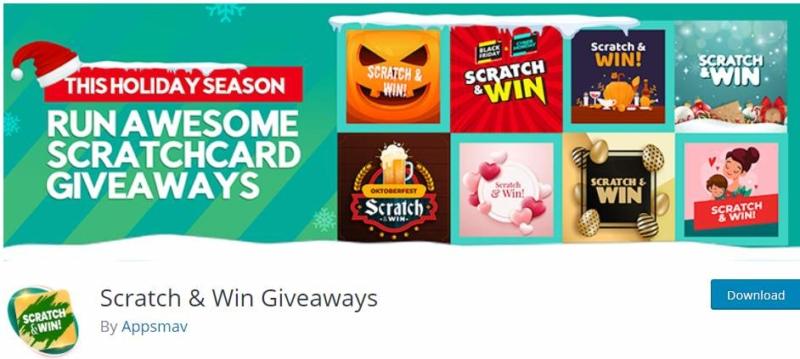 Scratch & Win Giveaways WordPress Plugin
