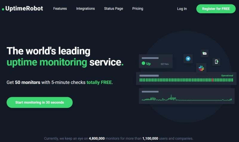 UptimeRobot monitoring plugin